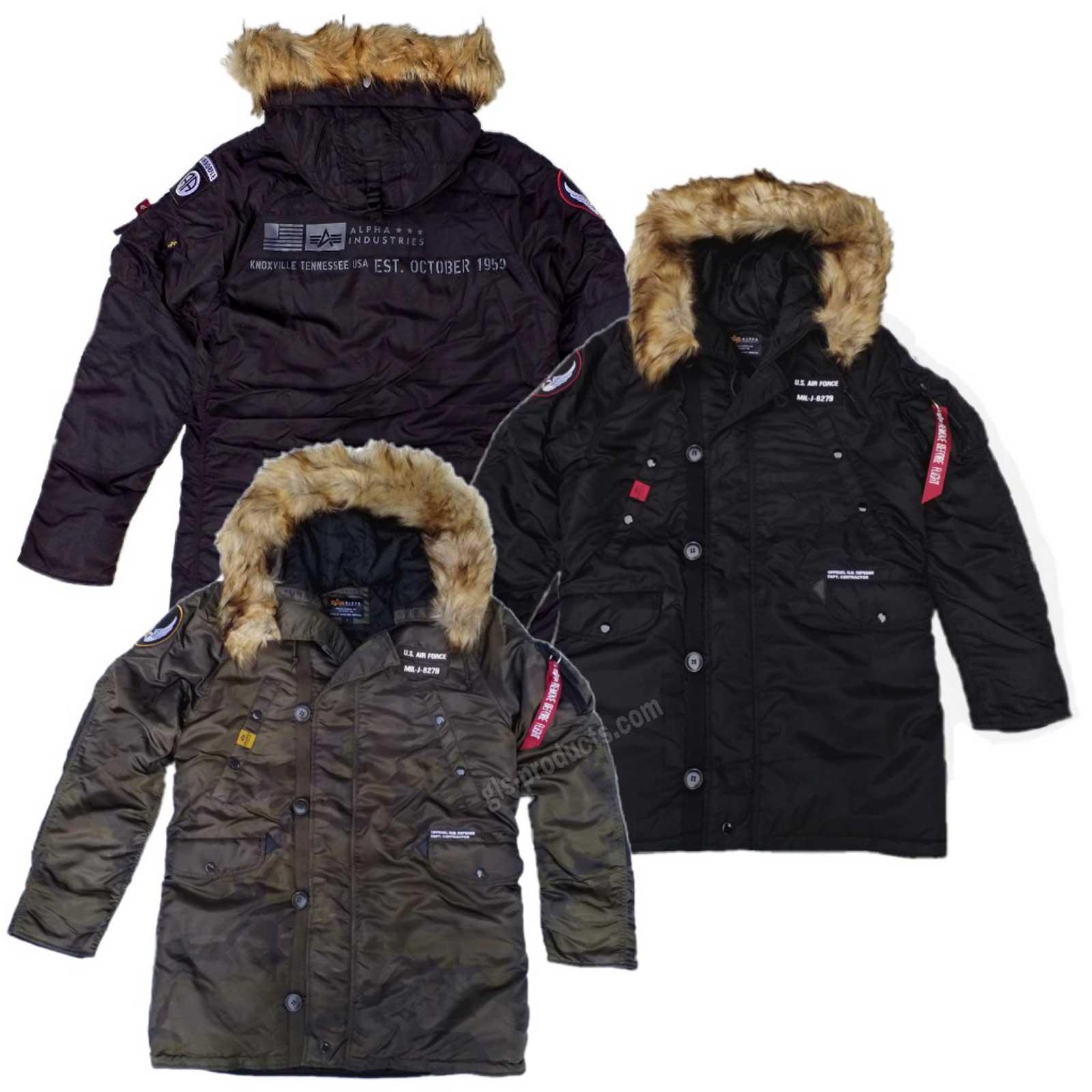 huge discount d92c3 ceaff Alpha Industries N3B Airborne 188141 Hip-length hooded jacket