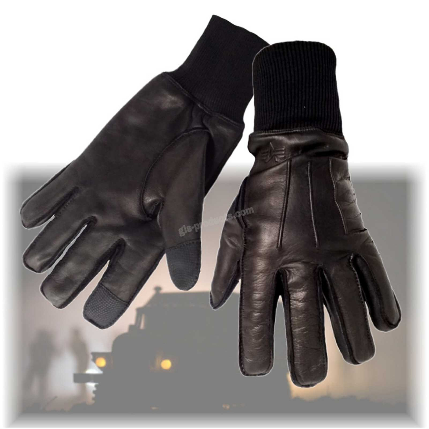 Alpha Industries B3 Gloves 188917 Leather – Picture 1
