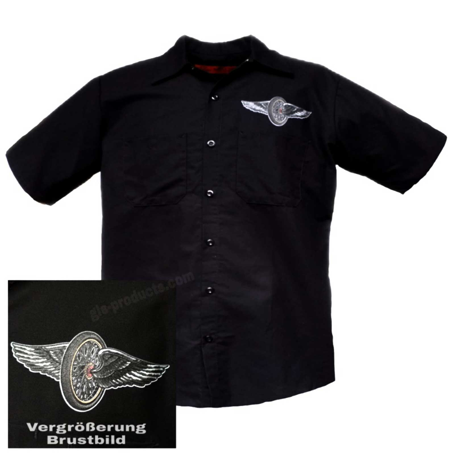 Choppers Til You Die Worker Shirt with short sleeves GMD6434 – Picture 2