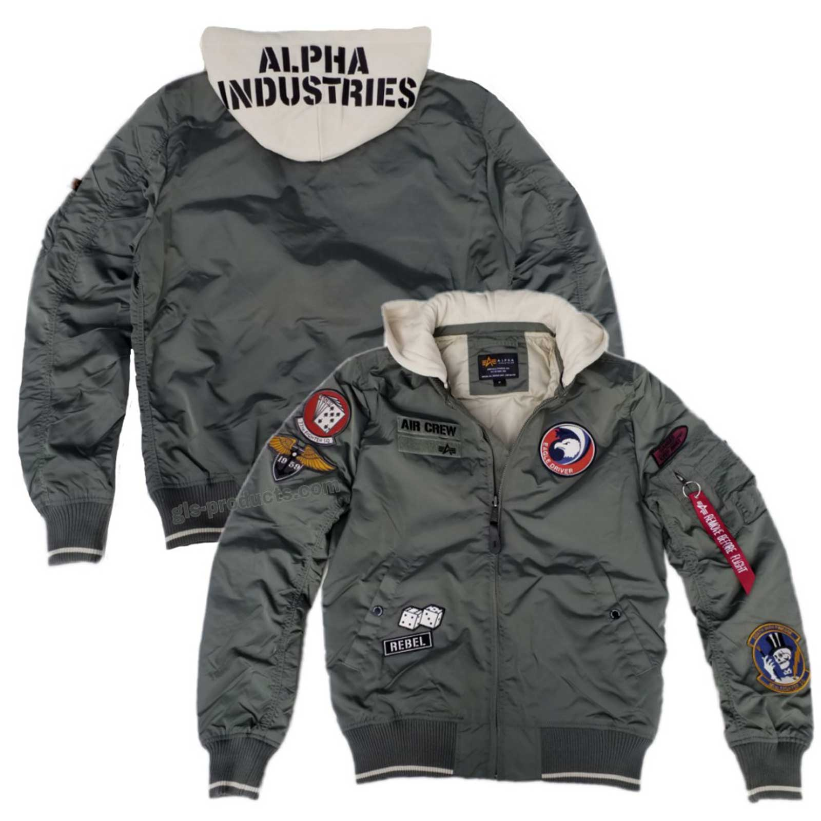 wholesale dealer bd29a 755a9 Alpha Industries MA-1 TT Hood Patch 196109 Air Crew
