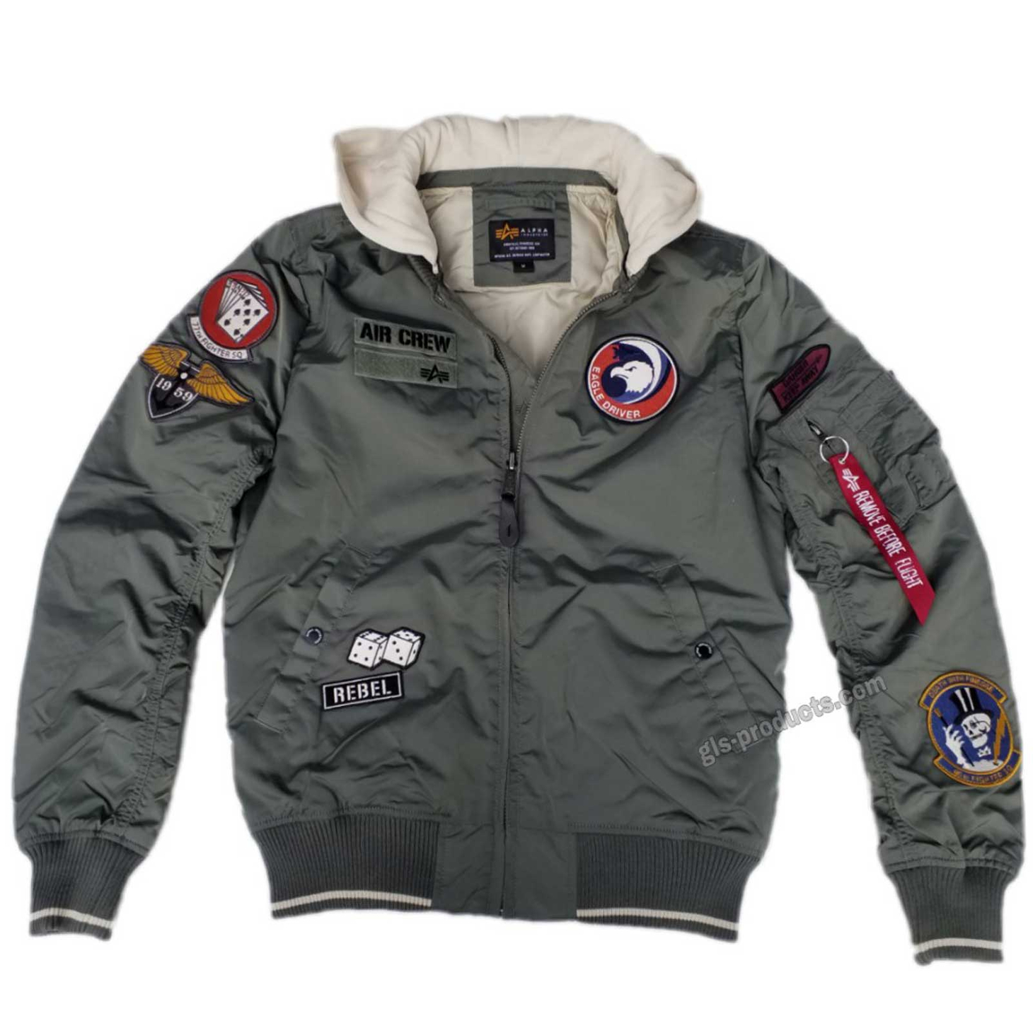 Alpha Industries MA-1 TT Hood Patch 196109 Air Crew – Picture 2