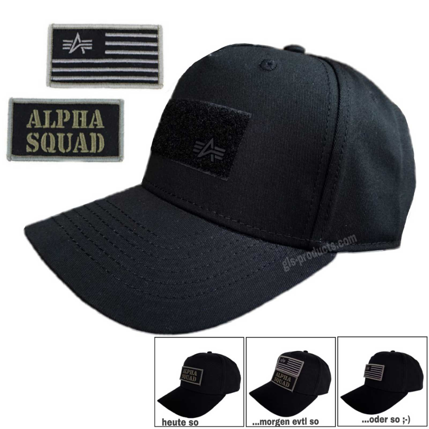 Alpha Industries VLC Patch Cap 196901 with 2 Patches – Picture 2