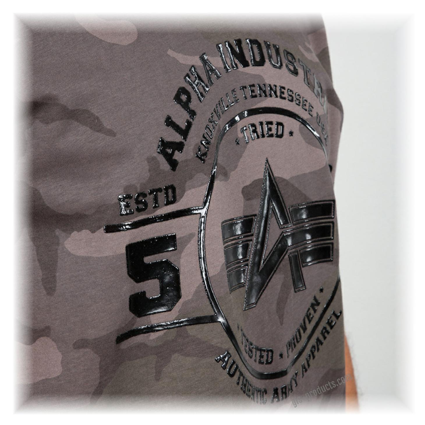 Alpha Industries Authentic Vinyl T  T-Shirt Unisex White
