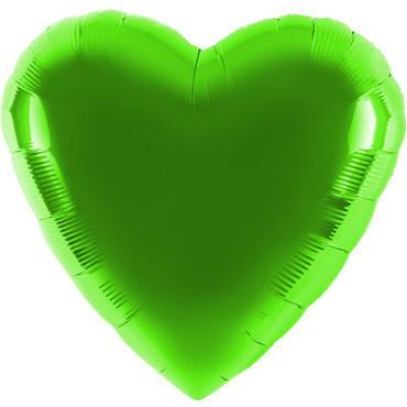 Folienballon - Ø 45cm - Herz - Limonengrün