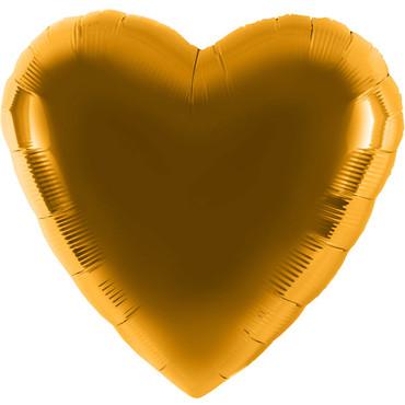 Folienballon - Ø 45cm - Herz - Gold