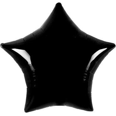 Folienballon - Ø 45cm - Stern - Schwarz