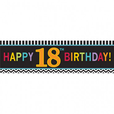 Signalbanner Chevron Birthday 18