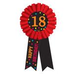 Siegerschleife 18 Chevron Birthday 14 cm 001
