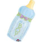 SuperShape Babyfläschchen Boy Folienballon P30 verpackt 001