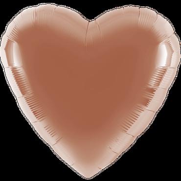 Folienballon - Ø 45cm - Herz - Rosé