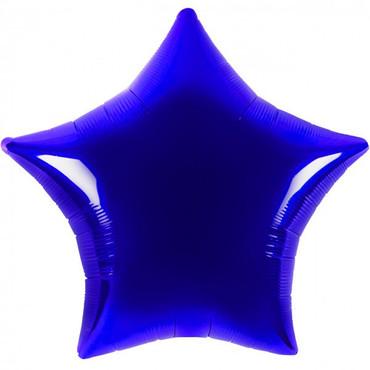 Folienballon - Ø 45cm - Stern - Dunkelblau