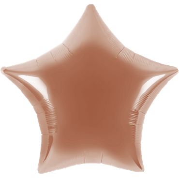 Folienballon - Ø 45cm - Stern - Roségold