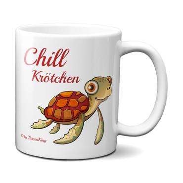 Chill Krötchen / Kaffeetasse mit süßer Schildkröte – Bild 1