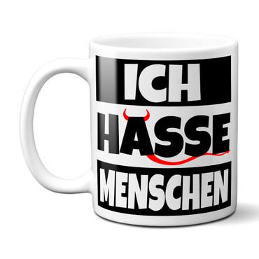 ICH HASSE MENSCHEN - Tasse - Kaffeebecher - Geschenk – Bild 2