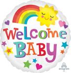 Folienballon - Ø 45cm - Kreis - Welcome Baby 001
