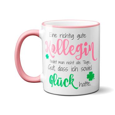 Eine richtig gute Kollegin... Design 2 (Altrosa) - Tasse Kaffeebecher Geschenk – Bild 2