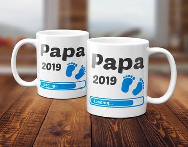 Papa 2019 Loading Junge / Boy / Blau - Tasse – Bild 5