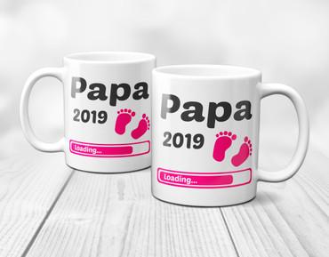 Papa 2019 Loading Mädchen / Girl / Pink - Tasse  – Bild 4