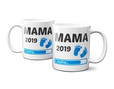 Mama 2019 Loading Junge / Boy / Blau - Tasse  – Bild 3