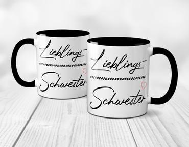 Lieblings- Schwester - Tasse – Bild 9
