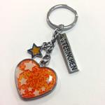 Schlüsselanhänger - Sternchen - Herz 001