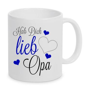 Hab Dich lieb Opa - Tasse – Bild 1