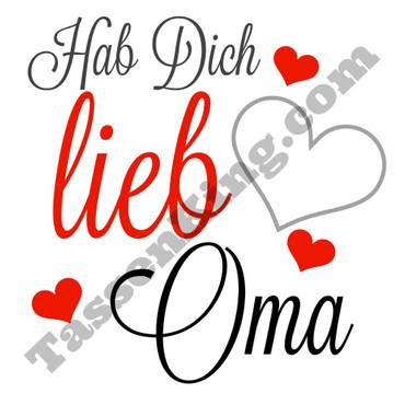 Hab Dich lieb Oma - Tasse – Bild 2