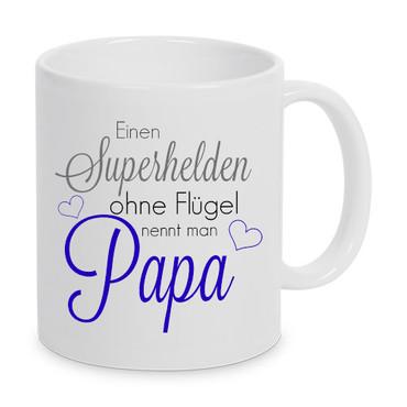 Einen Superheld ohne Flügel nennt man Papa - Tasse – Bild 1