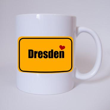 I love Dresden - Tasse