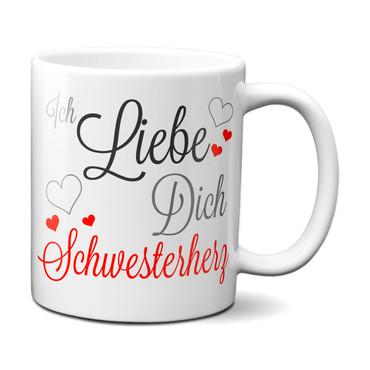 Ich liebe Dich Schwesterherz - Tasse – Bild 1
