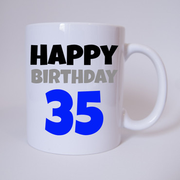 Happy Birthday 35 - Tasse