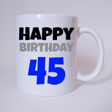 Happy Birthday 45 - Tasse