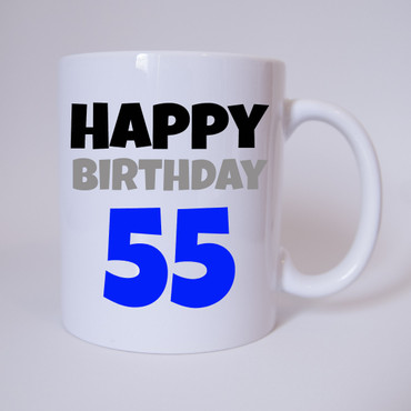Happy Birthday 55 - Tasse