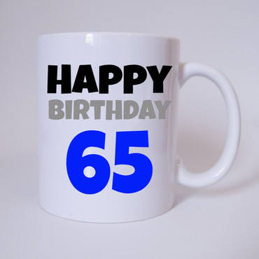 Happy Birthday 65 - Tasse