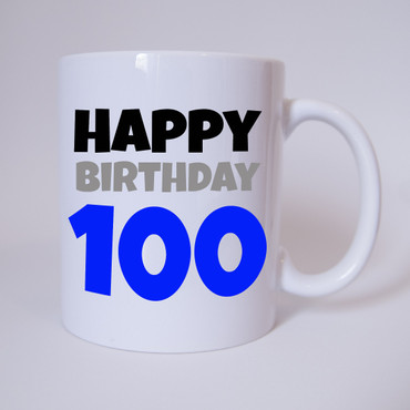 Happy Birthday 100 - Tasse