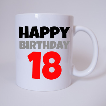 Happy Birthday 18 - Tasse