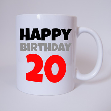 Happy Birthday 20 - Tasse