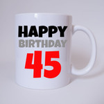 Happy Birthday 45 - Tasse 001