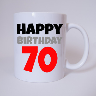Happy Birthday 70 - Tasse