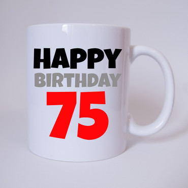 Happy Birthday 75 - Tasse