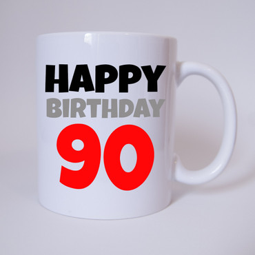 Happy Birthday 90 - Tasse