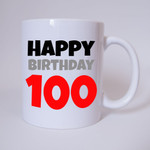 Happy Birthday 100 - Tasse 001