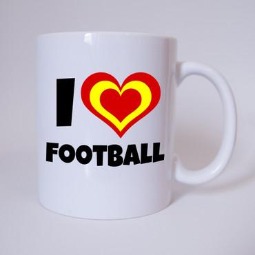 I Love Fussball - Spanien - Fussball - Tasse - Fan Tasse