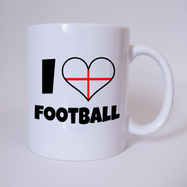 I Love Football - England - Fussball - Tasse - Fan Tasse