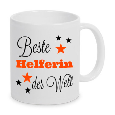 Beste Helferin der Welt - Tasse - Kaffeebecher