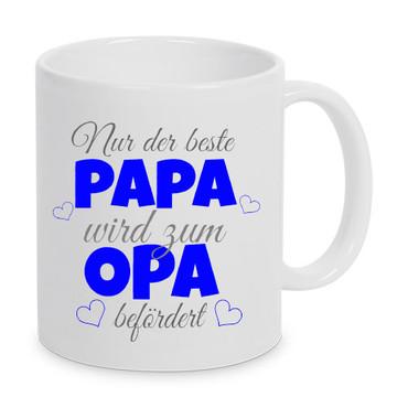 Nur der beste Papa wird zum Opa befördert - Tasse – Bild 1