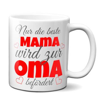 Nur die beste Mama wird zur Oma befördert - Tasse – Bild 1
