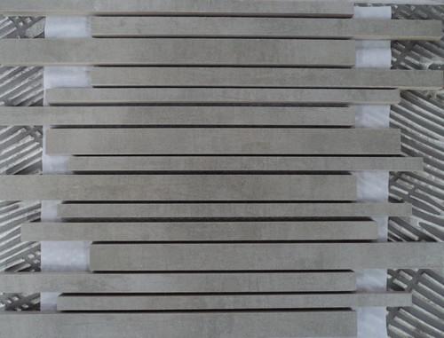 Musterprobe Mosaik Stäbchen Pencil Grey
