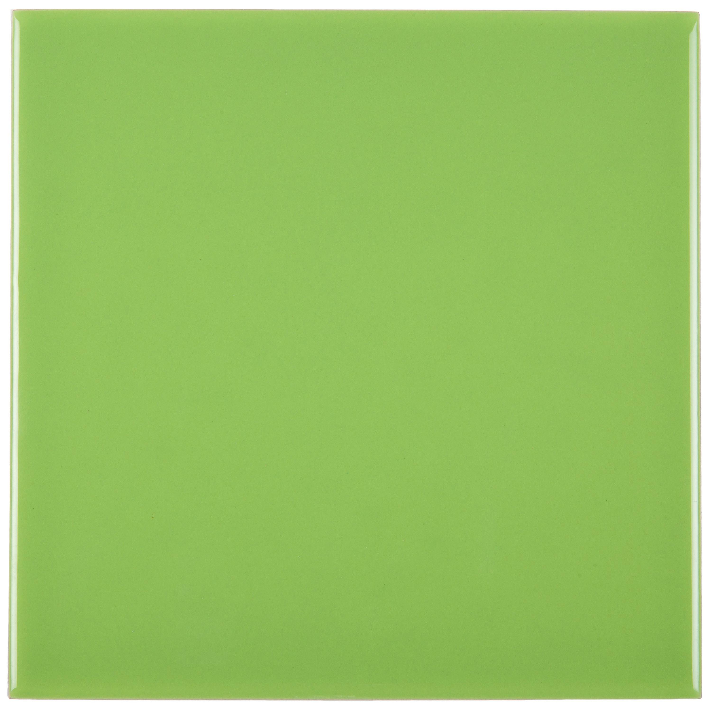 Musterprobe Pistacho glänzend 15x15 cm – Bild 1
