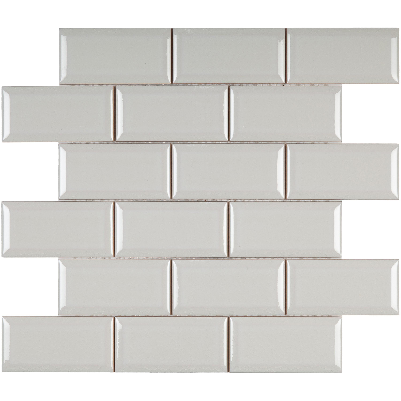 Musterprobe Liso PB C/C blanco krakelee auf Netz – Bild 1